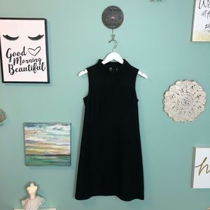 Theory Black Wool Blended Turtleneck Dress 6 H1